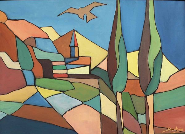 Primavera Toscana, 50x70, Acrylic on Canvas-board