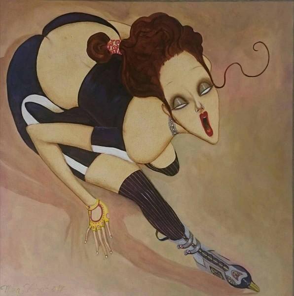 Adrenalin, 35x35, Oil on Canvas