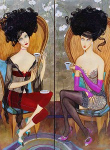 Orchid Lounge (Diptych)