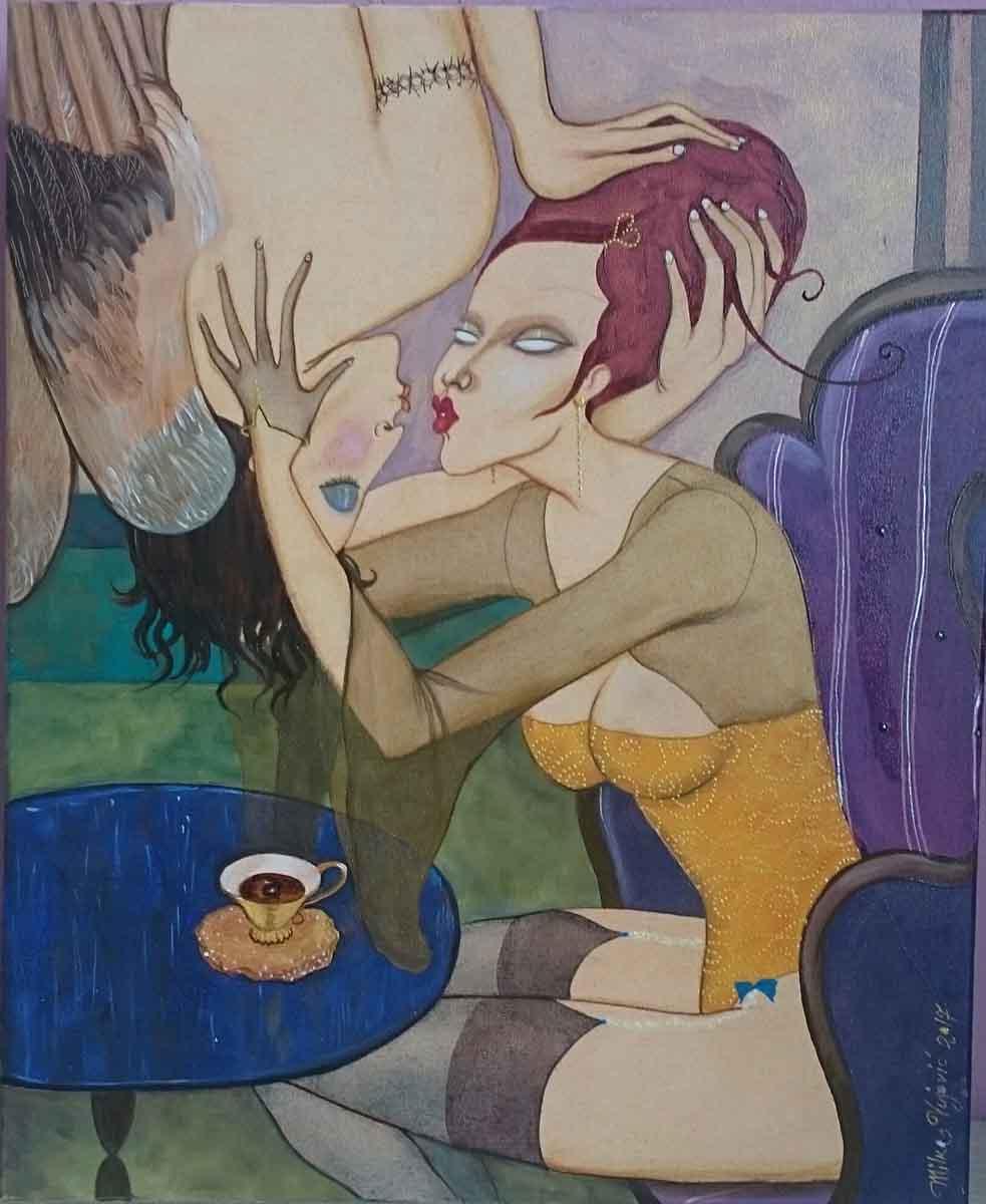 Tattoo Angel, 39x32, Oil on Canvas