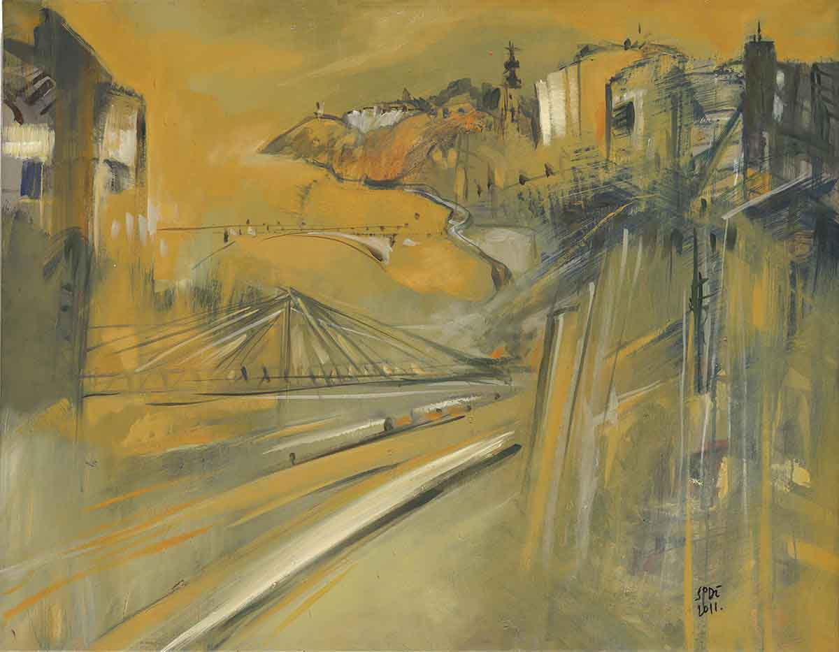 Bridges, 70x90, Oil on Canvas